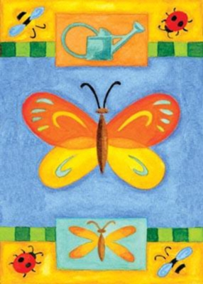 Patchwork Butterfly - Garden Flag by Toland