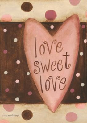 Love Sweet Love - Garden Flag by Toland