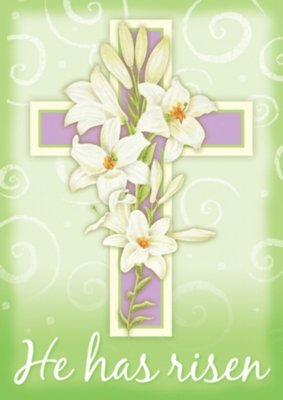 Easter Cross - Garden Flag by Toland
