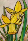 Stained Daffodil - Garden Flag by Toland