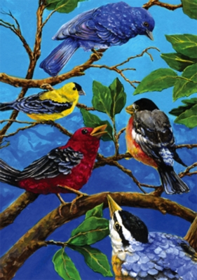 Birds on Blue - Standard Flag by Toland