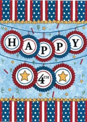 Happy 4th - Garden Flag by Toland