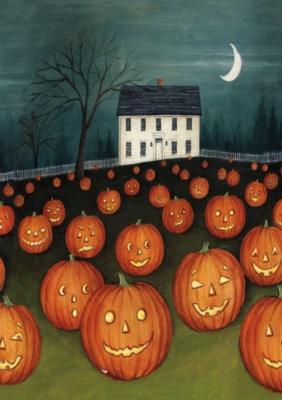 Pumpkin Hollow House - Garden Flag by Toland