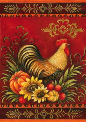 Fall Rooster - Standard Flag by Toland