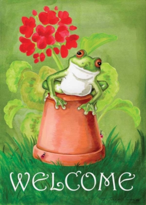Potted Frog - Standard Flag by Toland