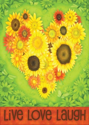 Sunflower Heart - Eco Friendly Standard Flag by Toland