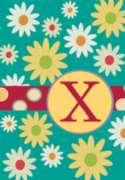 Monogram Whimsey X - Garden Flag by Toland