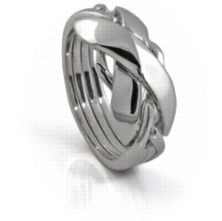 Puzzle Rings - Classic II (Ladies) - 4 Band - Sterling Silver