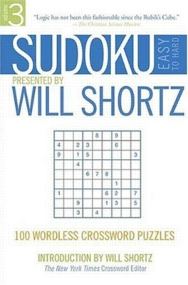 Paperback - Sudoku Easy to Hard by Will Shortz, Volume 3