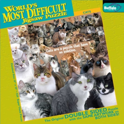 Cats - 500pc Double-Sided Jigsaw Puzzle by Buffalo Games