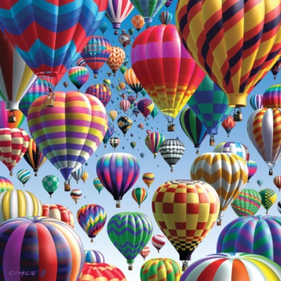 Balloons - 500pc Double-Sided Jigsaw Puzzle by Buffalo Games