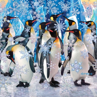 Penguins - 500pc Double-Sided Jigsaw Puzzle by Buffalo Games