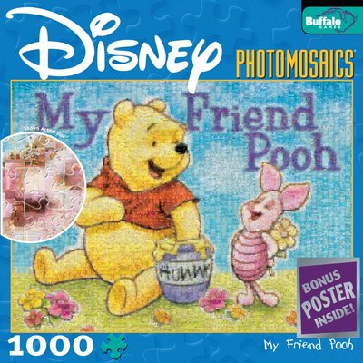 Disney: Winnie & Piglet - 1000pc Photomosaic Jigsaw Puzzle by Buffalo Games