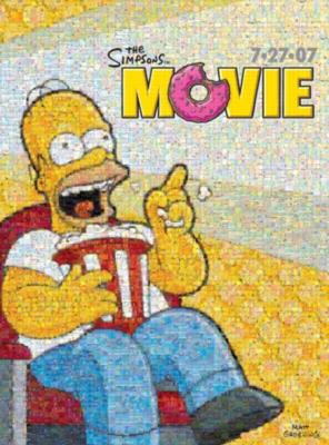 The Simpsons: Movie Homer - 1000pc Photomosaic Jigsaw by Buffalo Games