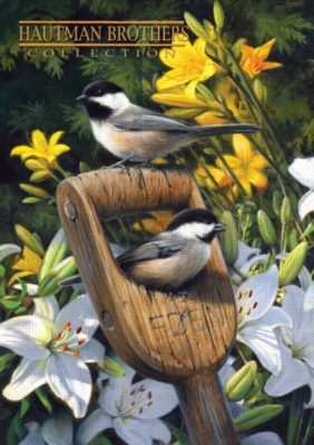 Hautman: Garden Chickadee - 300pc Large Format Jigsaw Puzzle by Buffalo Games