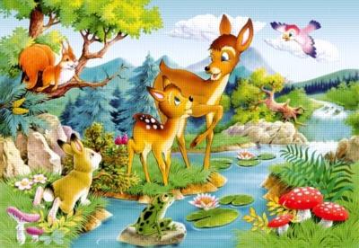 Little deer - 1000pc Jigsaw Puzzle by Castorland