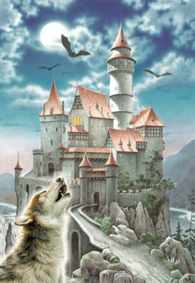Castle in the moonlight - 1000pc Jigsaw Puzzle by Castorland