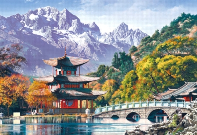 Pagoda at the Black Dragon Pond, China - 1000pc Jigsaw Puzzle by Castorland