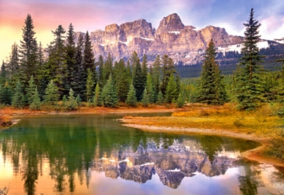 Castle Mountain, Banff National Park, Canada - 1000pc Jigsaw Puzzle by Castorland