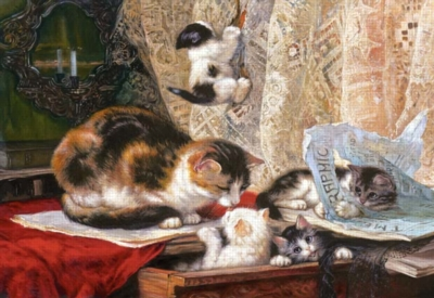 Up To No Good, Henriette Ronner-Knip - 1000pc Jigsaw Puzzle by Castorland