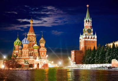 Jigsaw Puzzles - Red Square by Night in Moscow, Russia