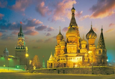The Red Square, Moscow, Russia - 2000pc Jigsaw Puzzle by Castorland