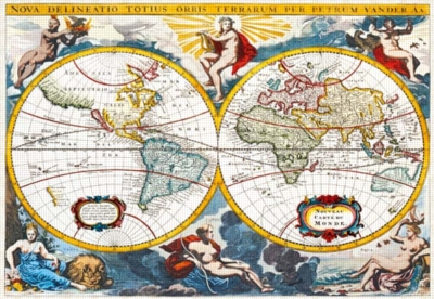World Map, early 18th century - 2000pc Jigsaw Puzzle by Castorland