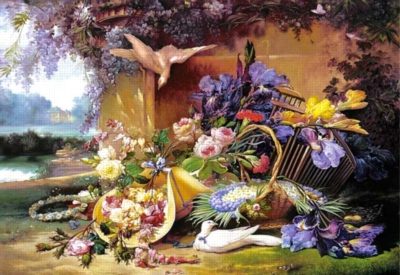 Jigsaw Puzzles - Elegant Still Life with Flowers