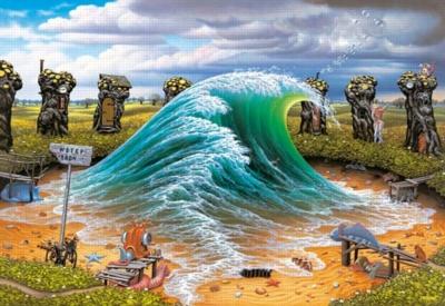 Jacek Yerka: Private Wave - 2000pc Jigsaw Puzzle by Castorland