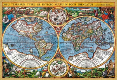 Pieter van der Keere: World Map 1607 - 3000pc Jigsaw Puzzle by Castorland