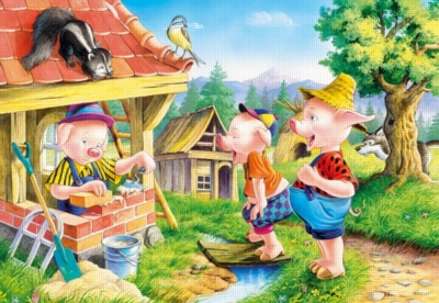 Three Little Pigs - 500pc Jigsaw Puzzle by Castorland