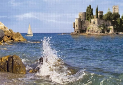 Castle At The Seashore - 500pc Jigsaw Puzzle by Castorland
