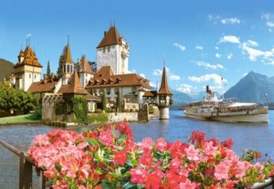 Oberhofen, Switzerland - 500pc Jigsaw Puzzle by Castorland