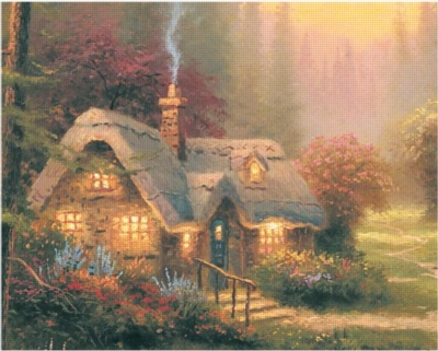 Thomas Kinkade: Meadowood Cottage - 500pc Cork Jigsaw Puzzle by Ceaco