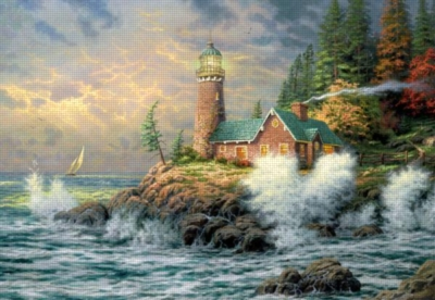 Thomas Kinkade: Courage - 300pc 3D Effects Jigsaw Puzzle by Ceaco