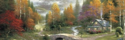 Thomas Kinkade: Valley Of Peace - 700pc Panoramic Jigsaw Puzzle by Ceaco