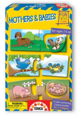Mothers And Babies - 36pc Jigsaw Puzzle by EDUCA