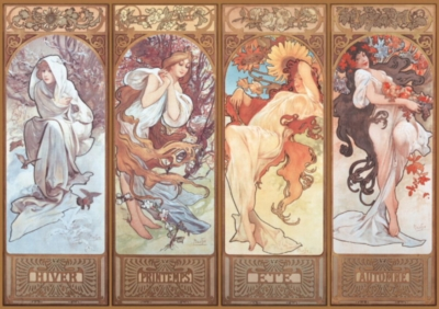 Mucha: Winter, Spring, Summer, Autumn - 4000pc Jigsaw Puzzle by EDUCA