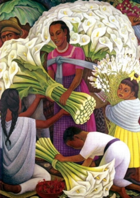 The Flower Seller, Diego Rivera - 500pc Jigsaw Puzzle by EDUCA