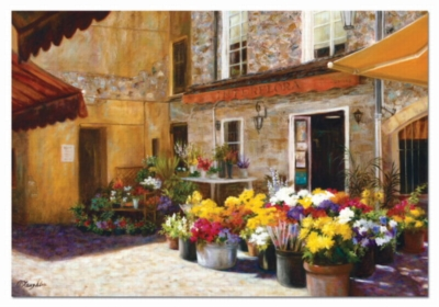 The Flower Shop, Jan Mclaughlin - 2000pc Jigsaw Puzzle by EDUCA