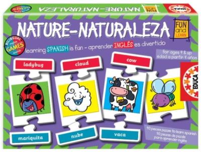 Bilingual - Animals - 90pc Jigsaw Puzzle by EDUCA