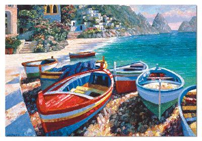Howard Behrens: Capri Cove - 500pc Jigsaw Puzzle by EDUCA