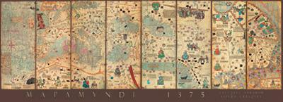 Cresques Abraham: Mapamundi 1375 - 1000pc Panoramic Jigsaw Puzzle by EDUCA