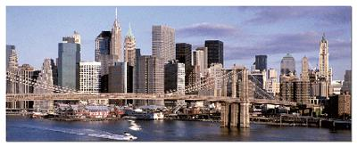 Skyline New York - 1000pc Panoramic Jigsaw Puzzle by EDUCA