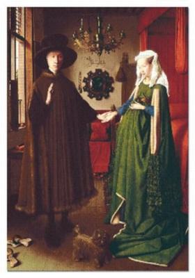 Jan Van Eyck: The Arnolfini Portrait - 1000pc Jigsaw Puzzle by EDUCA