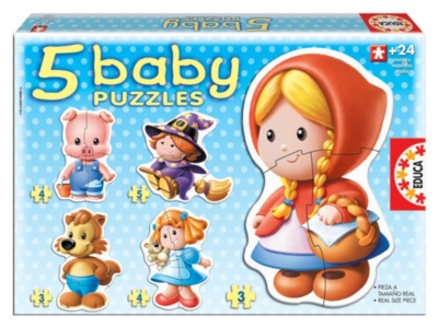 Jigsaw Puzzles For Kids - Fairy Tales (5 Pack)
