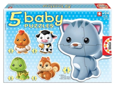 Jigsaw Puzzles For Kids - Animals (5 Pack)