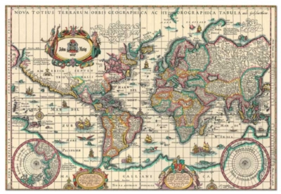 Ancient Map Of The World - 6000pc Jigsaw Puzzle by Educa