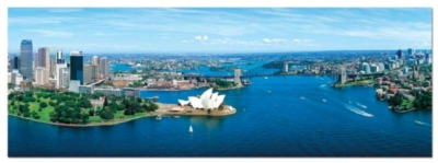 Sidney, Australia - 1000pc Panoramic Jigsaw Puzzle by Educa