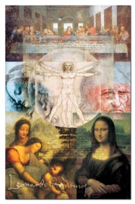 Da Vinci's World - 1000pc Miniature Jigsaw Puzzle by Educa